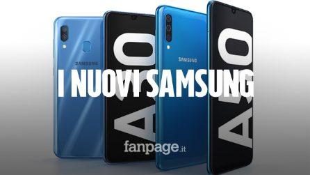 Samsung Galaxy A50 e A30: nuovi medio gamma con tripla fotocamera, notch e sensore sotto lo schermo