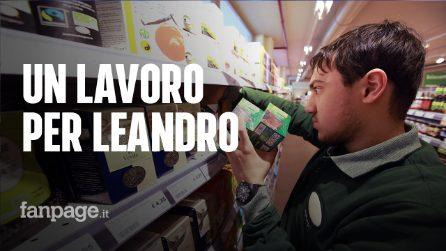 """Autismo, un lavoro per Leandro: """"L'impiego al supermercato lo fa sentire adulto"""""""