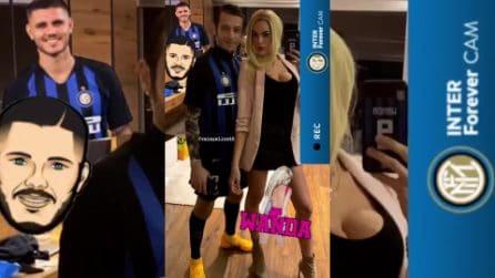 Valentino Rossi e la fidanzata sono Icardi e Wanda: esilarante travestimento per Carnevale