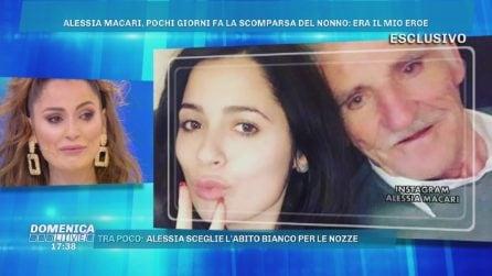 Alessia Macari in lacime per il nonno Silvio