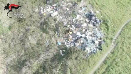 """Varcaturo, drone scopre discarica da 180mq nella """"Terra dei fuochi"""""""