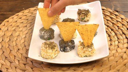 Tartufini al formaggio con nachos: facili e gustosi per un aperitivo speziato!