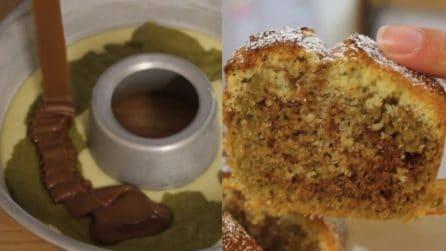 Ciambellone pistacchio e cioccolato: bello da vedere e ottimo da gustare