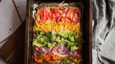Pizza arcobaleno con le verdure: un'idea colorata e piena di gusto!