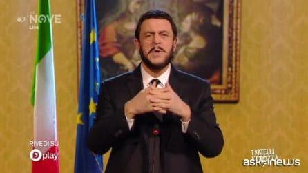 "Crozza-Salvini: ""Legittima difesa scritta da pistoleri e voluta da un pistola"""