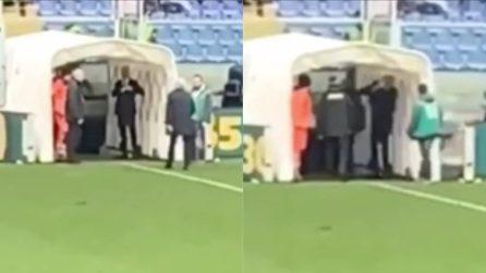 Gasperini espulso, colpisce il segretario della Sampdoria: la reazione furiosa
