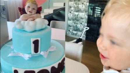 Tutto pronto per il primo compleanno di Leone: una torta speciale