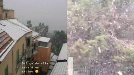Temperatura in picchiata, arriva la neve in Sicilia