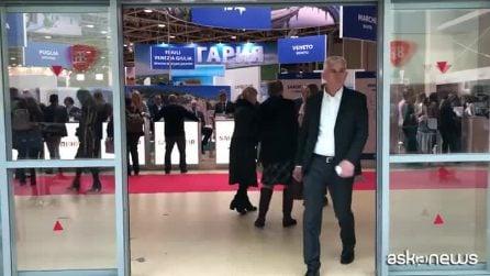 Alberto Tomba a Mosca, testimonial dell'Appennino