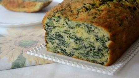 Plumcake salato con spinaci: ideale per un pranzo o una cena veloci