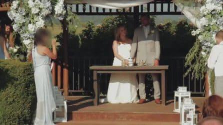 Testimone sviene e batte la testa a terra: choc durante il matrimonio