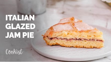 Glazed jam pie: this delicate flaky crust is filled with your choice of jam!