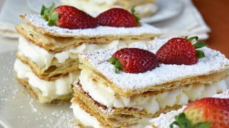 Millefoglie fragole e panna: semplice ma dal gusto unico