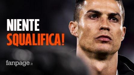 Cristiano Ronaldo, ecco la decisione della Uefa per l'esultanza contro l'Atletico Madrid