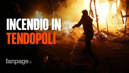 Incendio nella nuova tendopoli di San Ferdinando: tra le fiamme muore un migrante