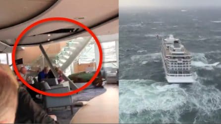 Viking Sky, crollano pezzi sui passeggeri a bordo: panico a bordo della nave in avaria
