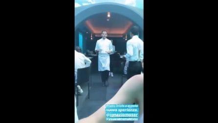 Cecilia Rodriguez e Ignazio Moser nel ristorante sott'acqua alle Maldive