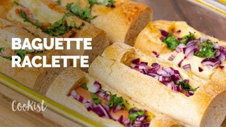 Baguette raclette: a super fun and tasty idea!
