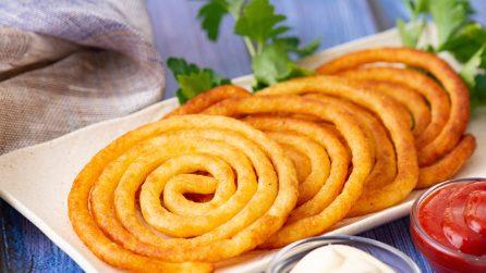 Spirali croccanti di patata: in un modo così sfizioso non l'avete mai preparata!
