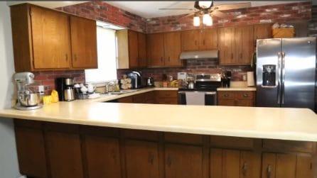 È stanca della sua vecchia cucina: la trasforma in maniera sensazionale e sembra come nuova