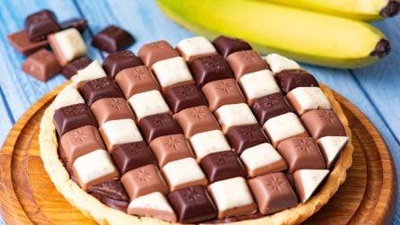 Tart banana e cioccolato: facile, golosa e pronta in pochi minuti!