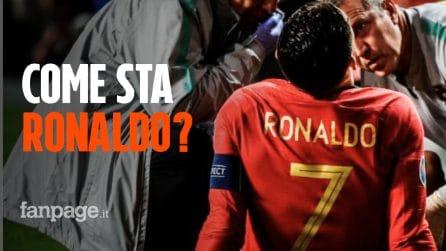 Cristiano Ronaldo, ultime notizie sull'infortunio: ecco come sta CR7