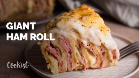 Giant ham roll: cooking has never been easier!