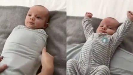 È pronto per andare a dormire: la scena tenerissima