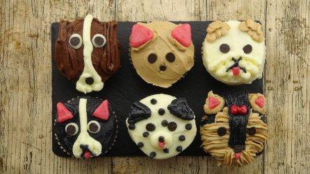 Come creare cagnolini di cupcakes usando solo crema al burro e gocce di cioccolato!