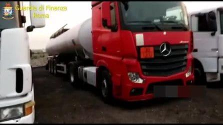 """Roma, operazione """"Gasolio low cost"""": sequestrati 120.000 litri di carburante di contrabbando"""