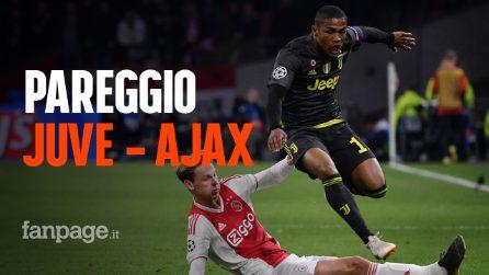 Pareggio per Juve - Ajax: ai bianconeri basta un goal di CR7, gli olandesi più belli che utili