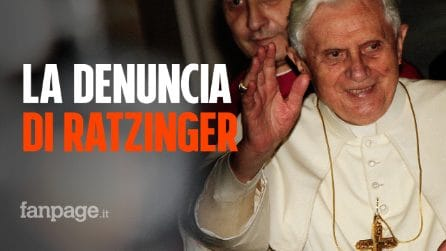 """Pedofilia, la denuncia di Ratzinger: """"Abusi sui minori nati con la rivoluzione del '68"""""""