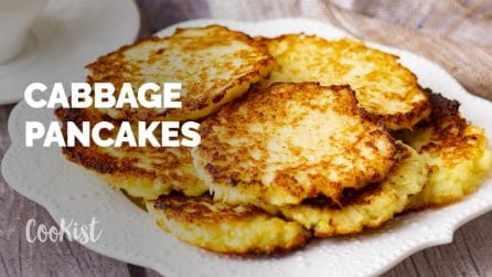 Cabbage pancakes: you'll only need two main ingredients!