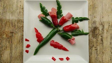 Come fare delle splendide decorazioni con la frutta e la verdura!