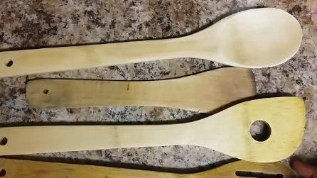 Come riciclare i vecchi mestoli in legno: il risultato è bellissimo