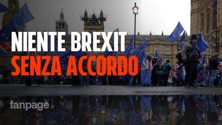 """Regno Unito: niente Brexit senza accordi, varata la legge che impedisce il """"no deal"""""""