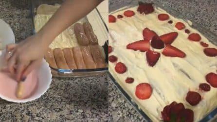 Tiramisù alle fragole: il dessert fresco, cremoso e delizioso