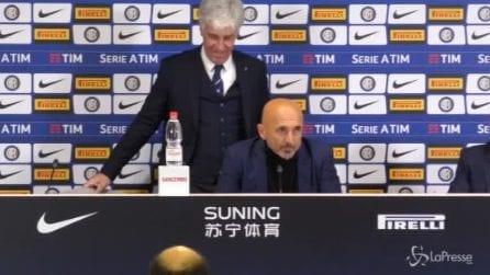 """Gasperini invade la conferenza stampa di Spalletti: """"Posso dire quello che mi hai detto su Icardi?"""""""