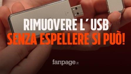 Rimuovere la chiavetta USB senza espellere? Da oggi si può senza rischi
