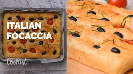 Olive Rosemary Italian Focaccia: quick and easy!