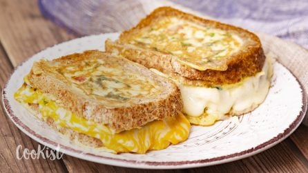 Omelette in bread: an easy and tasty recipe!
