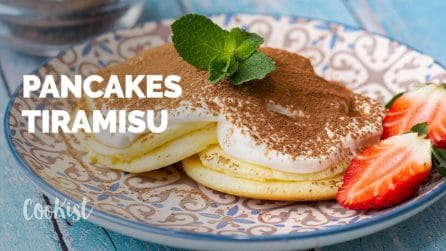Pancakes tiramisu: airy, fluffy and soft!