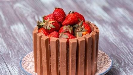 Torta cioccolato e fragole: bella e davvero golosa!