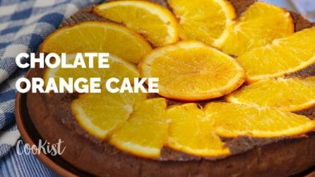 Chocolate and orange cake: tender and tasty