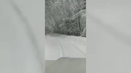 È aprile ma c'è ancora la neve: il paesaggio surreale sul Pollino