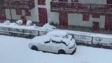 Maltempo, la straordinaria e abbondante nevicata di metà aprile