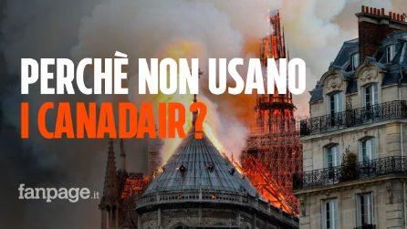Incendio alla Cattedrale di Notre Dame: perché non usano i Canadair per spegnere le fiamme?