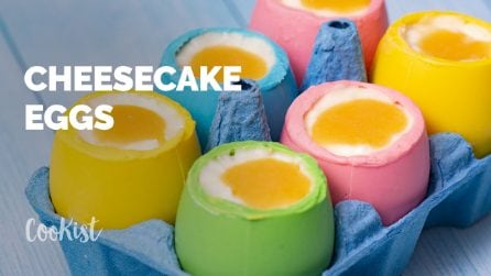 Cheesecake eggs: the perfect idea for Easter!