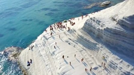 La Scala dei Turchi, la spiaggia vicino Realmonte in Sicilia è tra le più belle d'Italia
