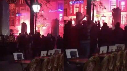L'Ajax batte la Juventus: si festeggia tra le strade di Amsterdam